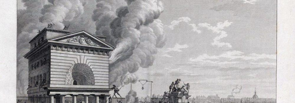 Pierre-Gabriel Berthault et Jean-Louis Prieur, Barrière de la Conférence incendiée